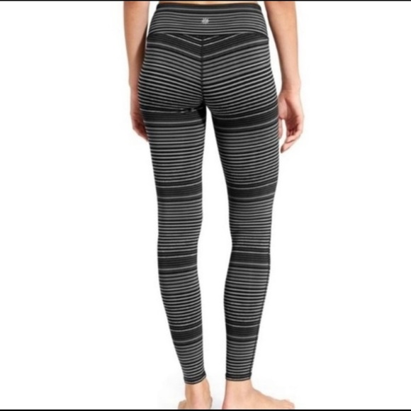 Athleta full length leggings- striped